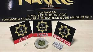 Karaman'da uyuşturucuya geçit yok: 3 gözaltı