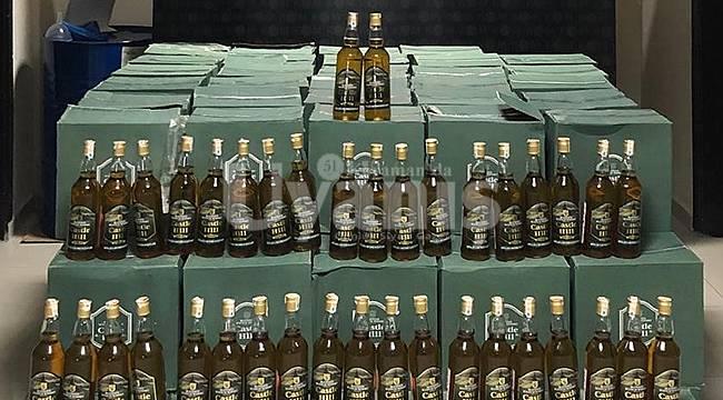 Karaman'da kaçak içki ele geçirildi