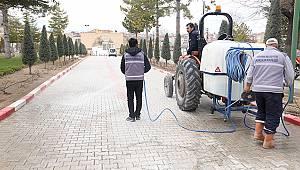 Karaman'da temizlik çalışmaları her alanda devam ediyor