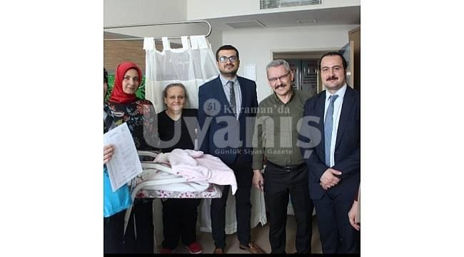 Karaman Devlet Hastanesi'nde E-Tescil (doğum) uygulamasına geçildi