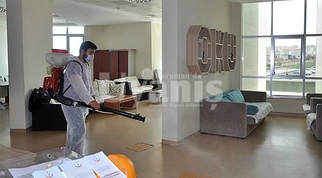 Karaman Devlet Hastanesinde ilaçlama yapıldı