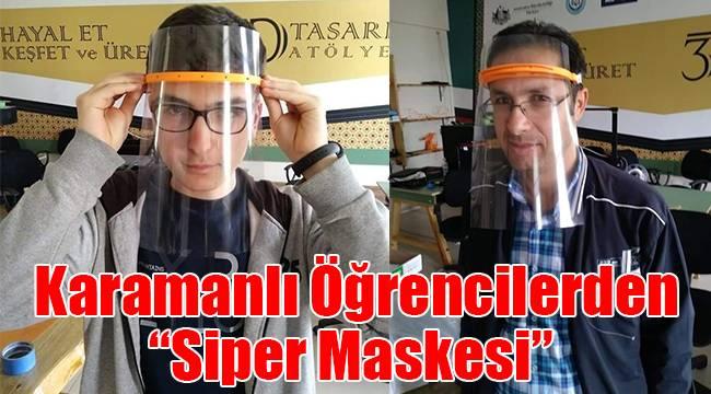 Karamanlı öğrencilerden siper maskesi
