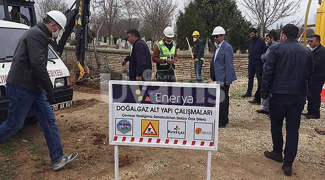 Kazımkarabekir'de Doğalgaz Çalışmaları Başladı