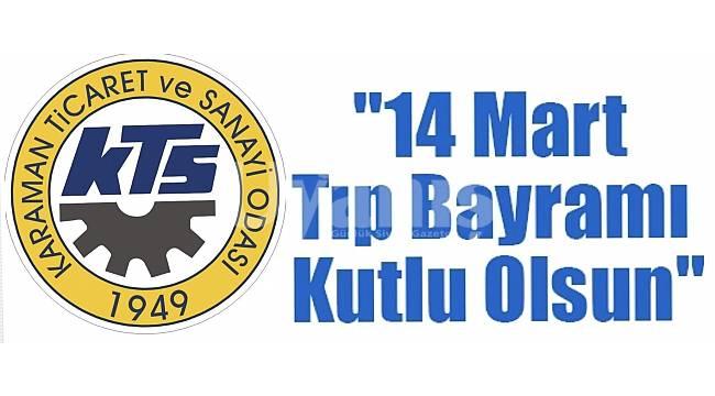 KTSO'dan 14 Mart Tıp Bayramı kutlama mesajı