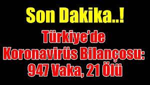 Türkiye'de Koronavirüs bilançosu!