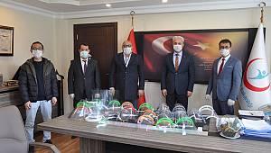 Üretilen Maskeler Sağlık Müdürlüğüne teslim edildi