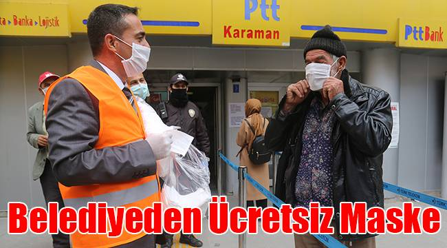 Belediyeden ücretsiz maske