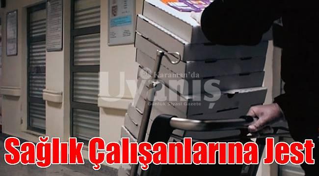 Karaman'da sağlık çalışanlarına jest