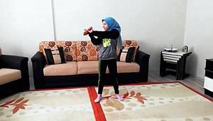 Karaman'da sporcular antrenmanlarını evden sürdürüyor