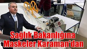 Sağlık Bakanlığına maskeler Karaman'dan