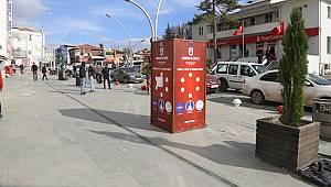 Şehrin Farklı Bölgelerine Dezenfektan Noktaları Yerleştirildi