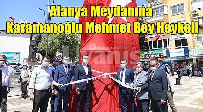 Alanya meydanına Karamanoğlu Mehmet Bey heykeli