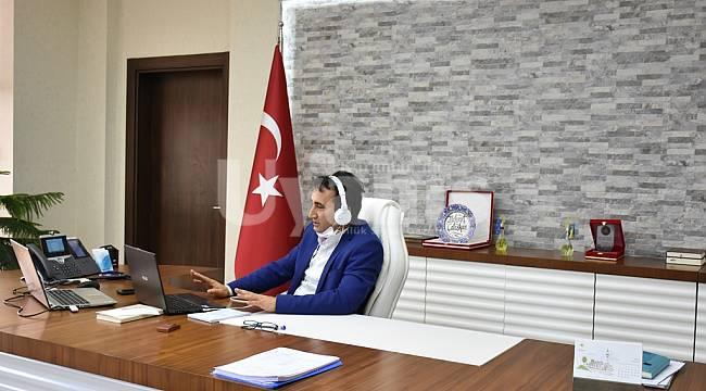 İl Müdürü Çalışkan, video konferans yöntemiyle görüştü