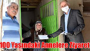 Karaman'da 100 yaşındaki annelere ziyaret