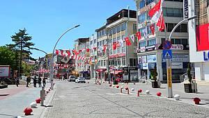 Karaman'da cadde ve sokaklarda sessizlik hakim
