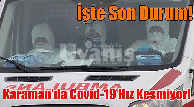 Karaman'da Covid-19 hız kesmiyor!