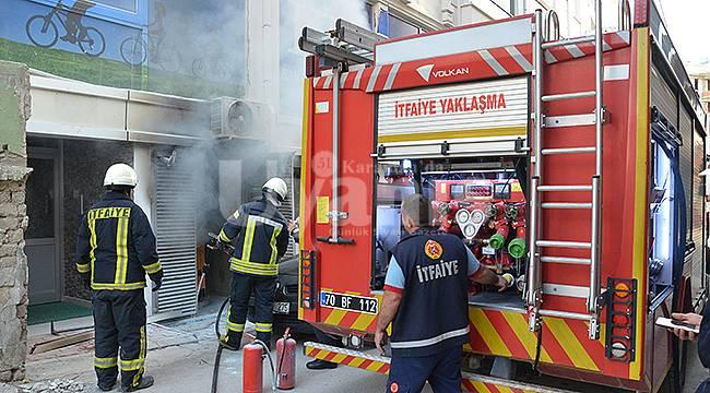 Karaman'da KETEM binasında yangın