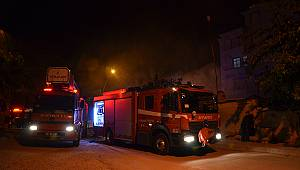 Karaman'da müstakil ev yandı