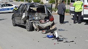 Karaman'da otomobille kamyonet çarpıştı