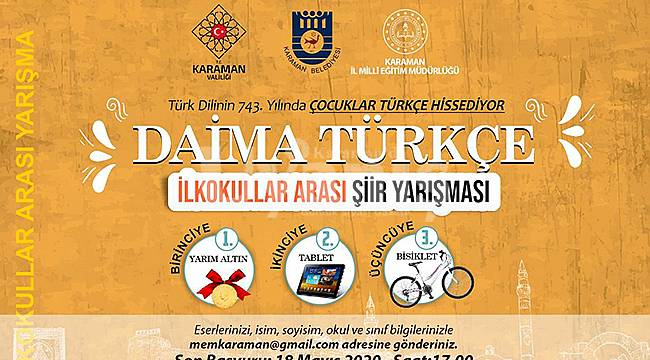 Türkçenin Başkenti Karaman'ın Adına Yakışır Bir Yarışma