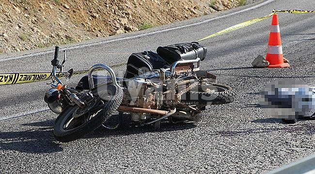 Karaman'da bariyere çarpan motosikletin sürücüsü öldü