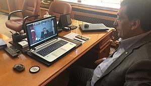 Çavaş, video konferans yöntemiyle gerçekleştirilen toplantıya katıldı