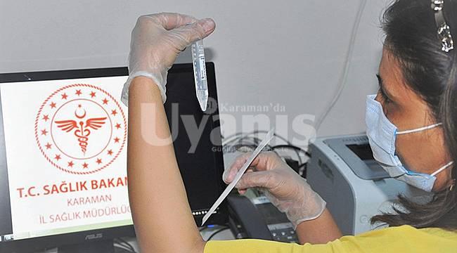 Karaman'da belirlenen hanelerdeki vatandaşlara covid-19 testi yapılacak