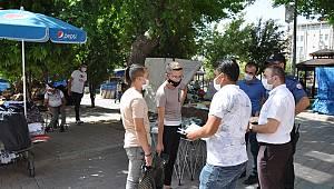 Karaman'da maske denetimleri devam ediyor