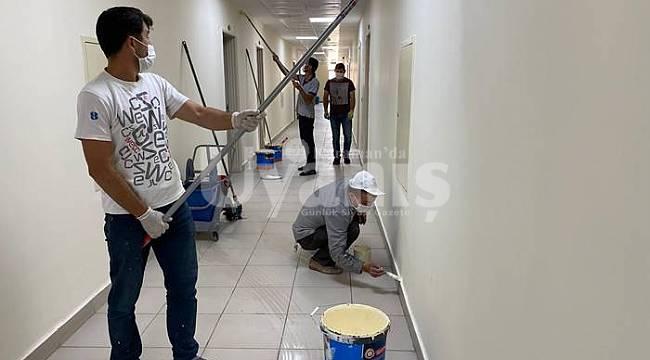 Karaman'da yurtlar karantina sonrası öğrenciler için hazırlanıyor