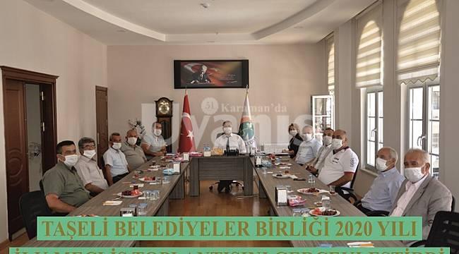 Taşeli Belediyeler Birliği 2020 yılı ilk meclis toplantısını gerçekleştirdi