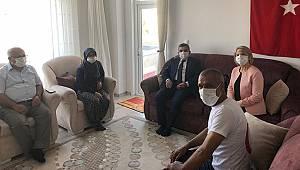 Vali Işık Şehit Ailesi ziyaretlerine devam ediyor