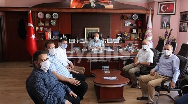 CHP Yönetiminden Esnaf Odaları Birliğine Ziyaret