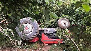 Damlapınar Köyünde traktör devrildi: 1 ölü