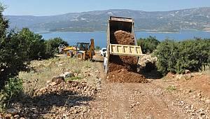 Ermenek'te yolların yapımına devam ediliyor