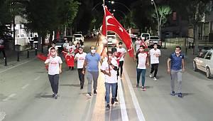 Karaman'da 15 Temmuz şehitleri anısına sancak koşusu düzenlendi