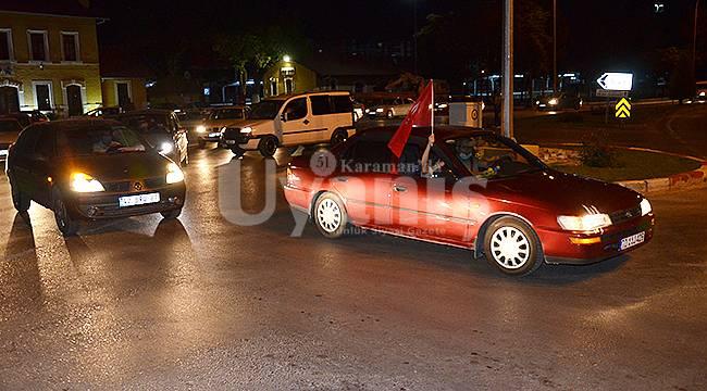 Karaman'da Ayasofya kararı nedeniyle vatandaşlar konvoy yaptı