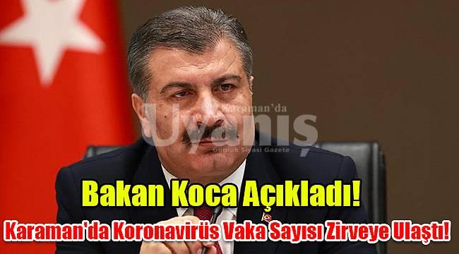 Karaman'da Koronavirüs Vaka Sayısı Zirveye Ulaştı!