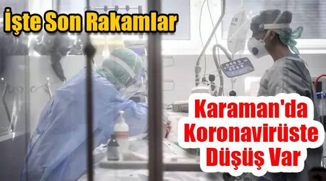 Karaman'da koronavirüste düşüş var