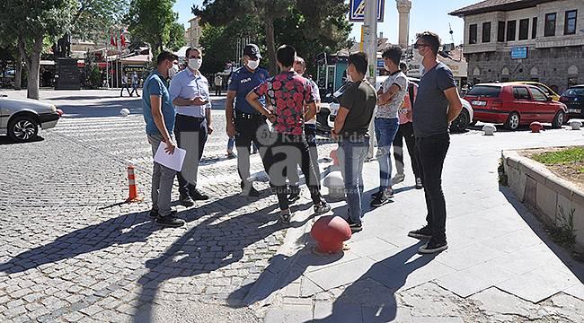 Karaman'da Maske Denetimi Yapıldı