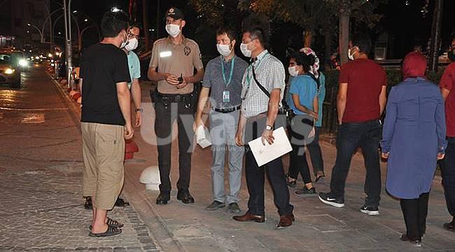 Karaman'da maske takmayanlara tutanak tutuldu