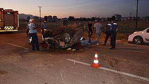 Karaman'da otomobil takla attı 3 yaralı