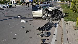 Karaman'da otomobiller çarpıştı: 1 yaralı