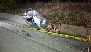 Karaman'da takla atan otomobilin sürücüsü öldü
