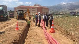 Kazımkarabekir'de doğalgaz çalışmaları devam ediyor