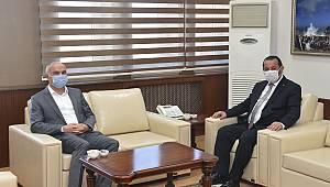 YÖK Denetleme Kurulu Üyesi Yıldız, Rektör Akgül'ü Ziyaret Etti
