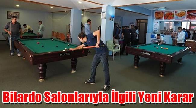 Karaman'da bilardo salonlarıyla ilgili yeni karar