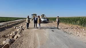 Osmaniye-Hamidiye-Göztepe grup yolundaki çalışmalar yerinde incelendi