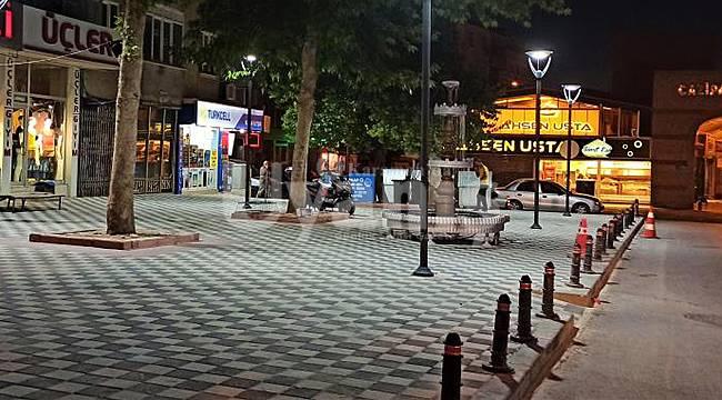 Şamkapı Caddesinde yenileme çalışması yapıldı