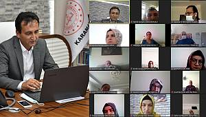 Çalışkan öğretmenlerle telekonferans yöntemiyle bir araya geldi