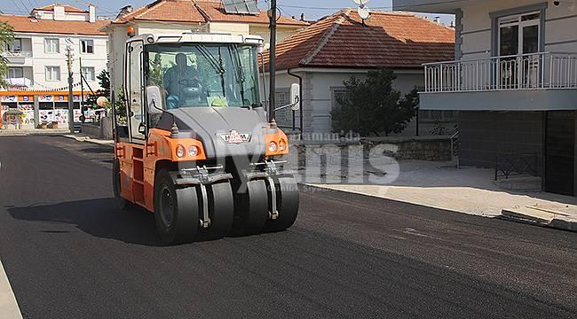 Karaman'da belediyenin yol çalışmaları devam ediyor
